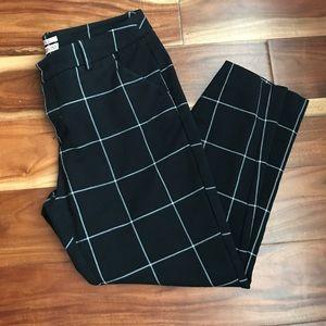 Merona Black/white Ankle Dress Pants